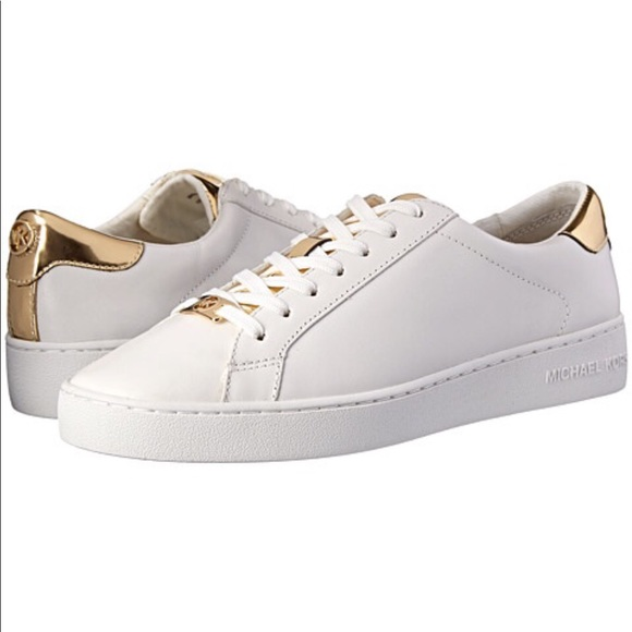 dd54ee3b22fa MICHAEL Michael Kors Irving Sneakers White Gold